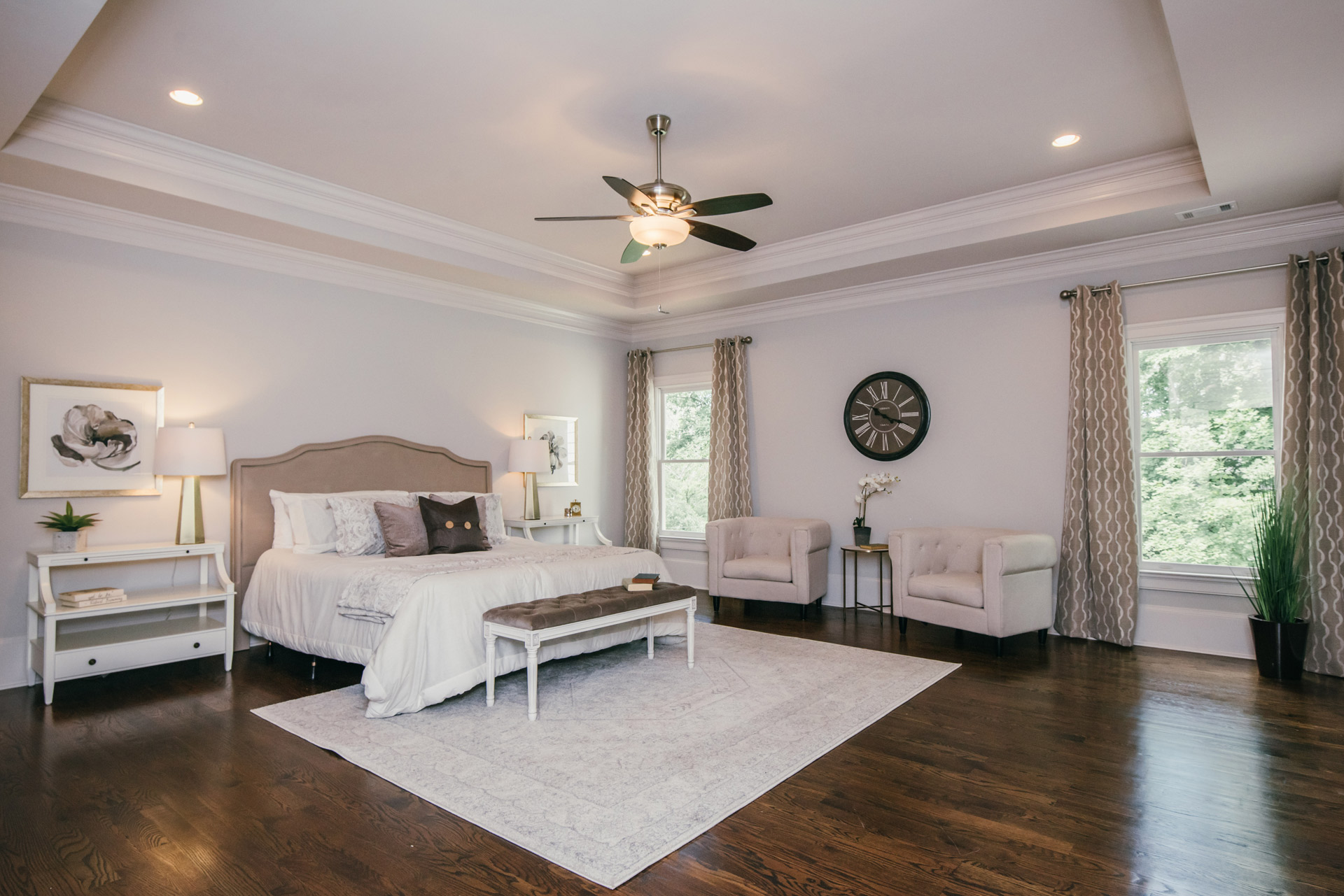 Polished peach vacant home staging Brookhaven