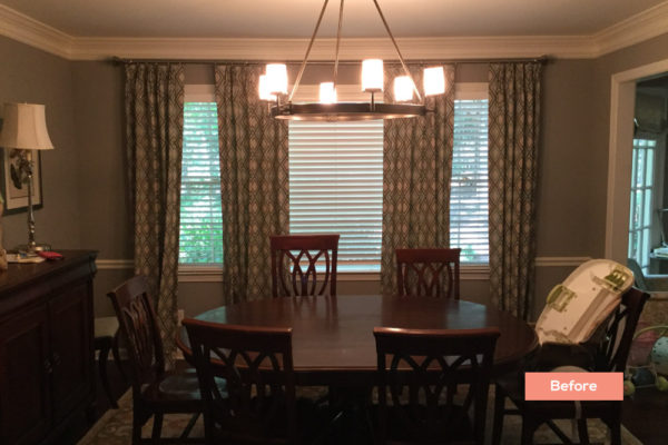 Longlake Dr Dining room Before - Occupied