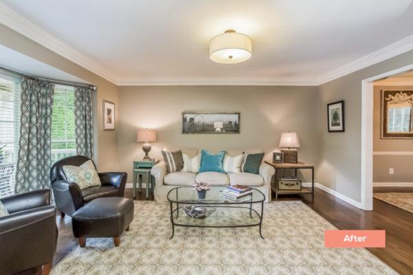 Longlake Dr Living room After - Occupied