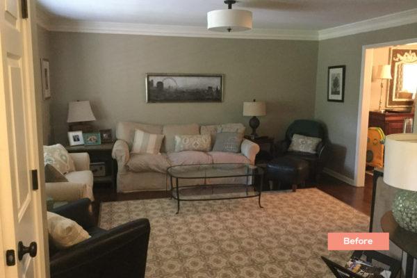 Longlake Dr Living room Before - Occupied