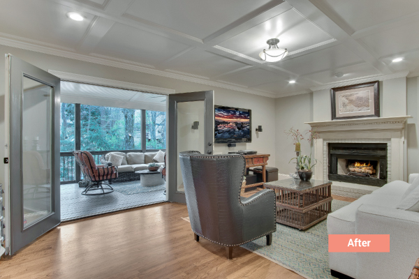 polished peach occupied staging Atlanta
